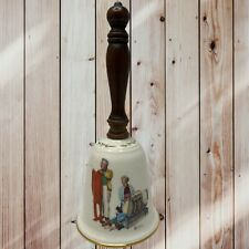 Vintage Gorham 1980 Norman Rockwell Chilly Reception Bell Brown & Bigelow