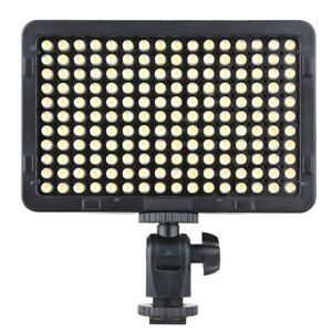 Portable Video Studio Photography Light Lamp Panel 176 LED 5600K for Canon Nikon