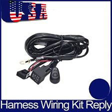 Wiring Harness Kit Loom For LED Work Light Bar Driving With Fuse Relay 12V 24V