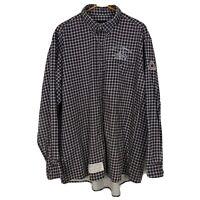 Bulwark Flame Resistant XL Long Sleeve Plaid Button Down Shirt FR