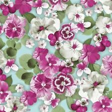 4 x Paper Napkins - Pansy all over White - Ideal for Decoupage / Napkin Art