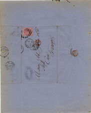Great  Britain  49pl5  on  folded letter to  France   1875              MS1113