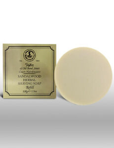 Taylor Of Old Bond Street Sandalwood Herbal Shave Shaving Soap Bar Refill 100g