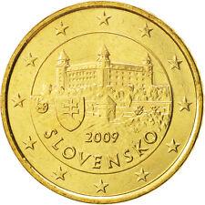 [#504656] Slovaquie, 50 Euro Cent, 2009, SPL+, Brass, KM:100