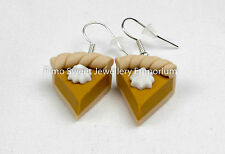 pumpkin pie  handmade fimo mini food earrings boxed ideal gift