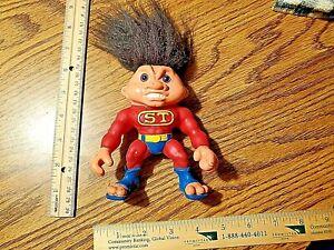 "Old Vintage 1992 Hasbro Battle Troll ST Super Troll Red 5"" Doll Figure RARE L@@K"