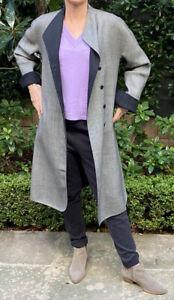 Giorgio Armani  Grey Black Wool Coat, Sz IT 40