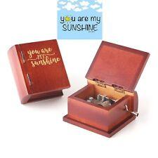 Unique Design Wooden Book Hand Crank Music Box: ♫  You Are My Sunshine ♫