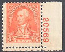 SC#711 - 6c Washington by John Trumbull Plate #20659 LR Single MNH