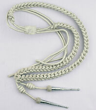 Aigullette, Silver Mylar Cord, With Silver Tags, Left Sided, LI-AUCC-0065