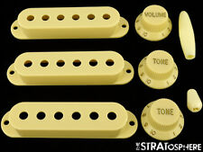 *NEW Cream ACCESSORY KIT Pickup Covers Knobs Tips for Fender Stratocaster Strat