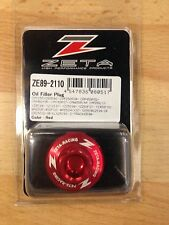 HONDA  CRF450 R  CRF 450 R  CR450F R   2002-2016  ZETA OIL FILLER PLUG RED