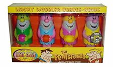 Set of 4 Flintstones Barney Rubble Wacky Wobbler Bobble Head Comic Con 2006 LE
