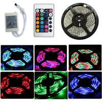 5M 300 LED Strip Light 3528/5050 SMD/RGB Ribbon Tape Roll Waterproof IP65 12V UK