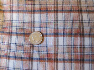 """Brown  Plaid woven cotton polyester fabric-2 yards +21"""" -- 50"""" wide"""