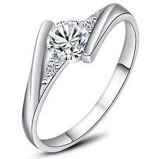 Design Ring 925 Silber SWAROVSKI ELEMENT Damen Verlobungsring Ehering Gr.18 Neu