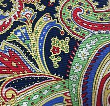 "American Living Floral Paisley Multi Color Silk Neck Tie 60""L X 3.5"" W"