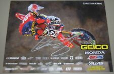 2018 Christian Craig signed Geico Honda CRF450R Supercross Motocross postcard