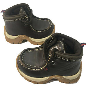 Phat Pharm (infant toddler) Size US 6 High Top Brown Genuine Leather Upper Shoes