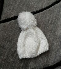 Carter's Girls Infants 0-3mo. White Winter Hat Beenie