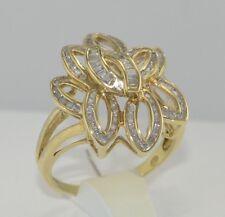 Ring mit insgesamt 1,50 ct. Diamanten /  375er 9 Karat Gold