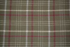 Flannel Fabric - Green & Red Plaid - 2 yards