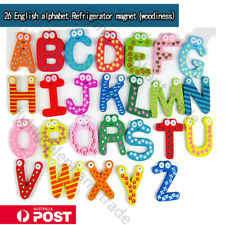 A-Z Large Animal Letter Wooden Fridge Magnet Alphabet Kids Baby Educational Toy