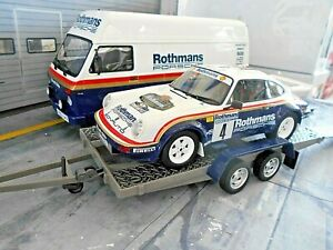 SET VW LT Van + PORSCHE 911 SCRS Rallye Toivonen + TRAILER Rothman Otto 3x 1:18