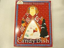 Jim Shore Holiday Traditions Ceramic Serving Plate Retired Candy Dish Nib