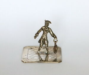 19th c. Dutch silver miniature of man.