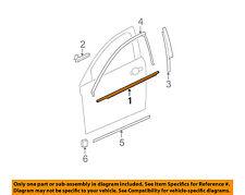 2008-2012 Chevrolet Malibu Front Door Belt Weatherstrip LH Side new OEM 25987184