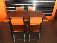 Leichardt Dining Set -1.2M table 4 Seats, Wooden Rectangular Table - Beech/Black