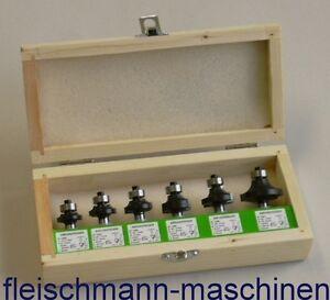 Edessö HM Abrundfräser Satz Viertelstabfräser 6-teilig Schaft 8 mm H 700 Fräser