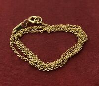 """Vintage Sterling Silver Necklace 925 Chain Signed PJM gold Tone China 18"""""""