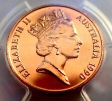 AUSTRALIA 1990 2 Cent  PCGS MS66  SLABBED