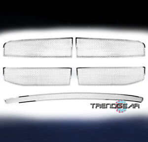 FOR 2006-2008 RAM 1500 2500 3500 FRONT TOP+BUMPER MESH STAINLESS GRILLE CHROME