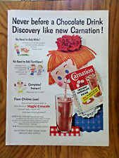 1955 Carnation Instant Chocolate Flavored Drink Ad