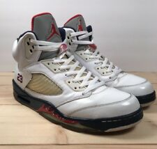 Air Jordan Retro 5 Basketball shoes Men sz 13  Team USA Olmpyic Ed Pre-Owned