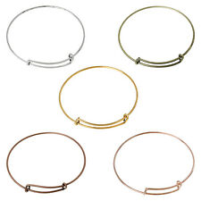 5 Expandable Bangle Charm Bracelets Mixed Colours 70mm Diametre J60405M