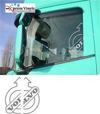Volvo truck half-cut logos x 2 cab side window vinyl decals