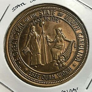 1969 STATE SEAL OF NORTH CAROLINA CAPITOL MEDALS TOKEN