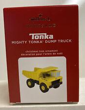 2020 Hallmark Keepsake Mighty Tonka Dump Truck Ornament