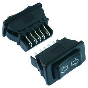 2 x Universal Electric Window / Aerial Switch 5-Pin 12V Car Auto Automotive