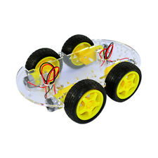 4WD Smart Car Robot Chassis for Arduino with Gear Motor Wheel Tyre DIY Car Kit