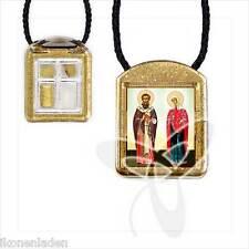 Ladanka vierteilig geweiht Cyprian und Justina ладанка Киприян и Иустиния