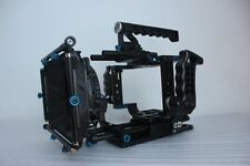 BMCC Rig Blackmagic Cinema Camera Cage +Follow Focus With Dual Side Handle Grip
