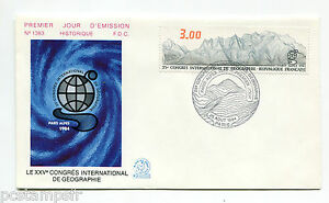 FRANCE 1984, FDC 1° JOUR, CONGRES GEOGRAPHIE, timbre 2327