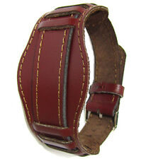 20mm BORDO MAROON WATCH BAND VINTAGE OLD MILITARY Soviet Russian Genuine Leather