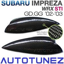 Carbon Fiber Car Eyelid Eyebrow For Subaru WRX STI GD GG GDB 2002-2003 TU Black