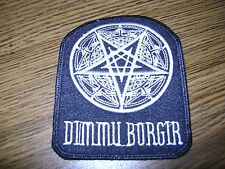 DIMMU BORGIR  WITH LOGO,SEW ON WHITE EMBROIDERED PATCH